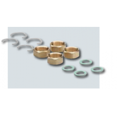 DN16 3/4 Connection sets for flexi pipe (4 nuts, seals and stop rings)