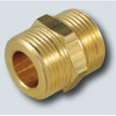 "3/4 x 3/4"" Male to male flat face coupler"