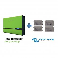 Nedap PowerRouter 3.7 Self use with 440Ah Victron Energy GEL battery bank