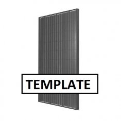 ~ Template panel 992 x 1953mm black