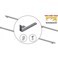 VDV 1.0kW Landscape-  Roof Hook Slate 2 x Rows of 2